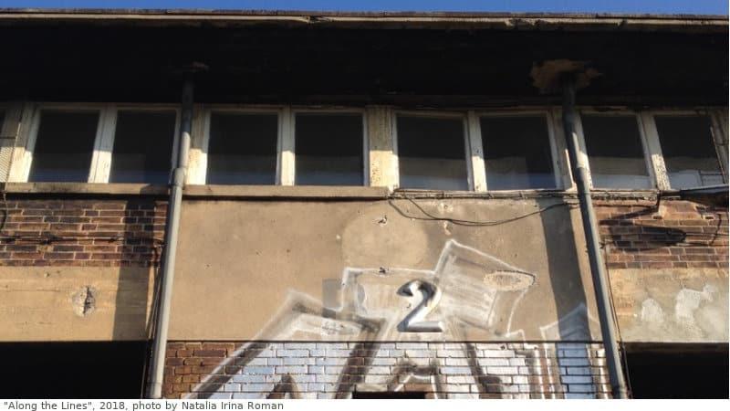 verlassenes Stellwerk mit Grafitti
