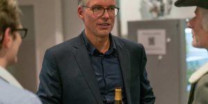 Michael Knoll beim Ausklang von Kunst und Zug