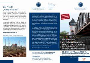 Einladung zur Veranstaltung Stillegelgte Objekte der Deutschen Bahn