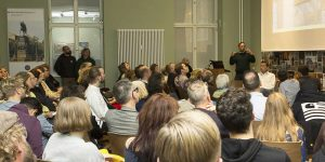 Udo Dittfurth bei seinem Vortrag über die S-Bahn Berlin